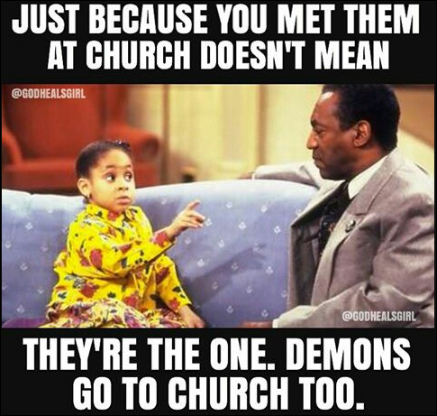 demons go to church too